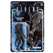 Super7 Aliens ReAction Figure - Alien Warrior Midnight Black
