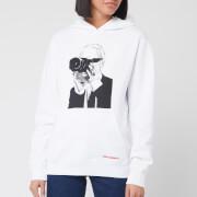 Karl Lagerfeld Women's Legend Hoody - White - XS