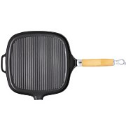 Chasseur Premium Square Grill Pan - Wooden Handle