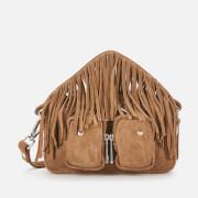 Núnoo Women's Helena Suede Fringe Cross Body Bag - Tan