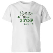 Santa Stop Kids' T-Shirt - White