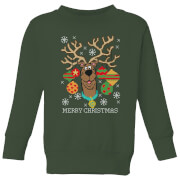 Scooby Doo Kids' Christmas Sweater - Forest Green