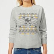 Batman I Do Not Smell Womens Christmas Sweatshirt   Grey   XXL   Grey