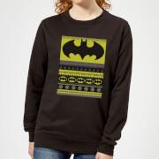 Batman Womens Christmas Sweatshirt   Black   XXL   Black