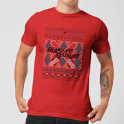 Harley Quinn Mens Christmas T Shirt   Red   S   Red