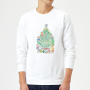 Rosie Brooks Christmas Tree Mens Sweatshirt - White - S - White