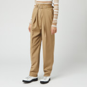 JW Anderson Women's Belted Tapered Trousers - Beige - UK 6