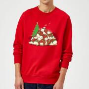 Tobias Fonseca Good Night Xmas Bear Sweatshirt - Red