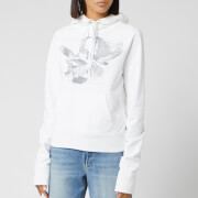 Helmut Lang Women's Slim Hoody Eagle - Chalk White - XS