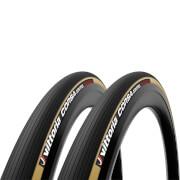Vittoria Corsa Control G2.0 Tubular Road Tyre Twin Pack - 700x28mm - Para/Black
