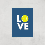 Love Tennis Art Print   A2   Print Only