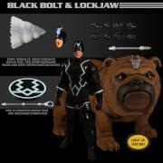 Mezco One:12 Collective Marvel Comics Black Bolt and Lockjaw Action Figure Set