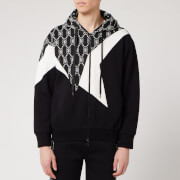 Neil Barrett Men's Monogram Cut and Sew Hoody - Black/White - M