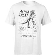How Ridiculous Action Rexy Men's T-Shirt - White