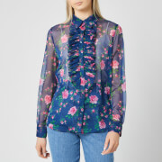 Philosophy di Lorenzo Serafini Women's Fantasy Print Blouse - Blue - IT 38/UK 6