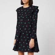 Philosophy di Lorenzo Serafini Women's Floral Mini Dress - Black - IT 38/UK 6