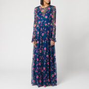 Philosophy di Lorenzo Serafini Women's Floral Print Maxi Dress - Blue - IT 40/UK 8