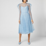 Philosophy di Lorenzo Serafini Women's Polka Dot Sheer Midi Dress - Blue - IT 42/UK 10