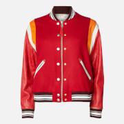 Golden Goose Deluxe Brand Women's Bomber Jacket Scarlett - Red Wool/Jaguar - IT 38/UK 6