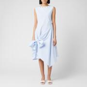JW Anderson Women's Stud Neck Knot Dress - Light Blue - UK 6