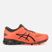 asics men's running gel-kayano 26 trainers - flash coral - uk 7