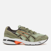 asics men's gel-1090 trainers - lichen green/mantle green - uk 8