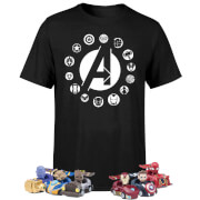 Lot T-shirt + Stylo avec voiture Marvel Avengers Beast Kingdom – Exclusivité Zavvi