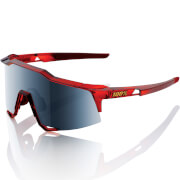 100% Speedcraft Sunglasses with Mirror Lens - Cherry Palace/Black lens