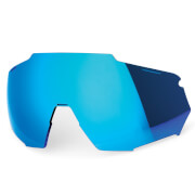 100% Racetrap Replacement Hiper Multiplayer Mirror Lens - Blue