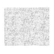 Faces Fleece Blanket
