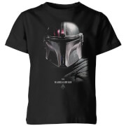 T-Shirt Enfant The Mandalorian - Noir