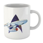 Retro Star Trek Mug - White