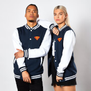 DC Comics Superman Varsity Jacket - Navy / White