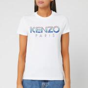 KENZO Women's Straight T-Shirt Sequins - White - XS