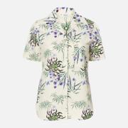 KENZO Women's Hawaiian Shirt Knot Detail - Off White - UK 6/EU 36