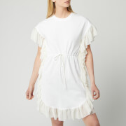 See By Chloé Women's T-Shirt Tie Waist Dress - White Powder - XS