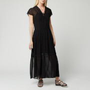 See By Chloé Women's V-Neck Maxi Dress - BLACK - EU 34/UK 6