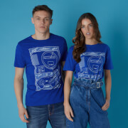 Sega Megadrive Blueprints Unisex T-Shirt - Royal Blue