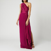 Solace London Women's Mara Maxi Dress - Plum - UK 8