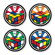 Rubik Glow Coaster Coaster Set