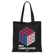 Miss Complicated Love Cube Tote Bag Black