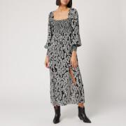 RIXO Women's Marie Dress - Tree Roots Black Cream - S