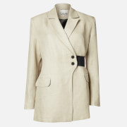 Ganni Women's Linen Blazer - Tannin - EU 34/UK 6