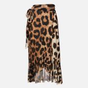 Ganni Women's Printed Mesh Skirt - Maxi Leopard - EU 34/UK 6