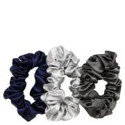 Slip Pure Silk Scrunchies - Large - Midnight