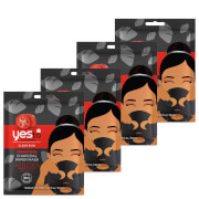 Купить Yes to Tomatoes Detoxifying Charcoal Paper Single Use Mask (Pack of 4)