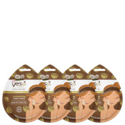 yes to Coconut Moisturizing Mud Single Use Mask (Pack of 4)