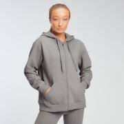 Sweat à capuche zippé MP Essentials pour femmes – Gris chiné - XS