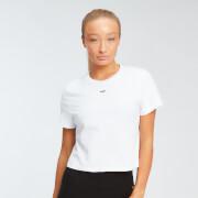 MP dámské zkrácené tričko s krátkým rukávem Essentials – Bílé