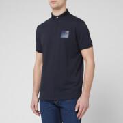 Emporio Armani Men's Reflective Logo Polo Shirt - Navy - S